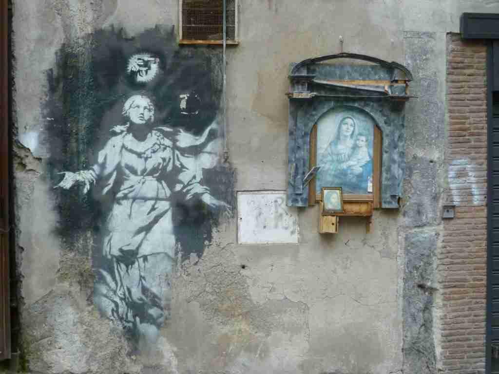Madonna con la pistola - Banksy (Napoli)