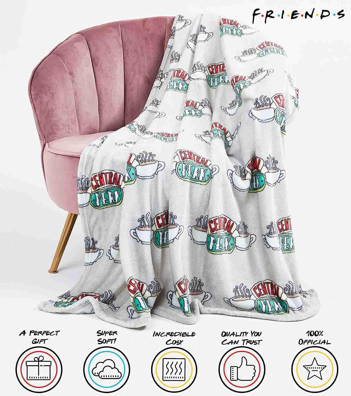 colore Nero Coperta in pile Friends Logo